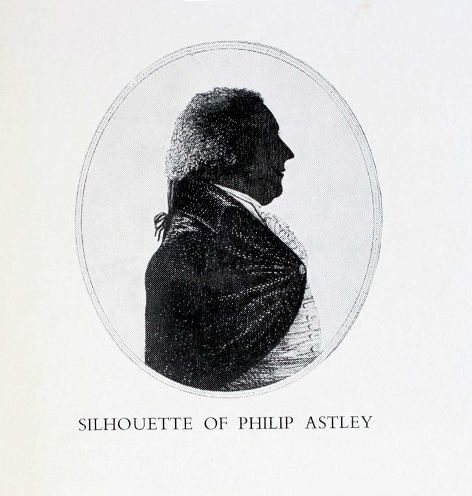 Silhouette of Philip Astley