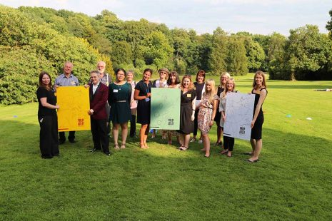Members of the Philip Astley Project steering group at Keele Hall